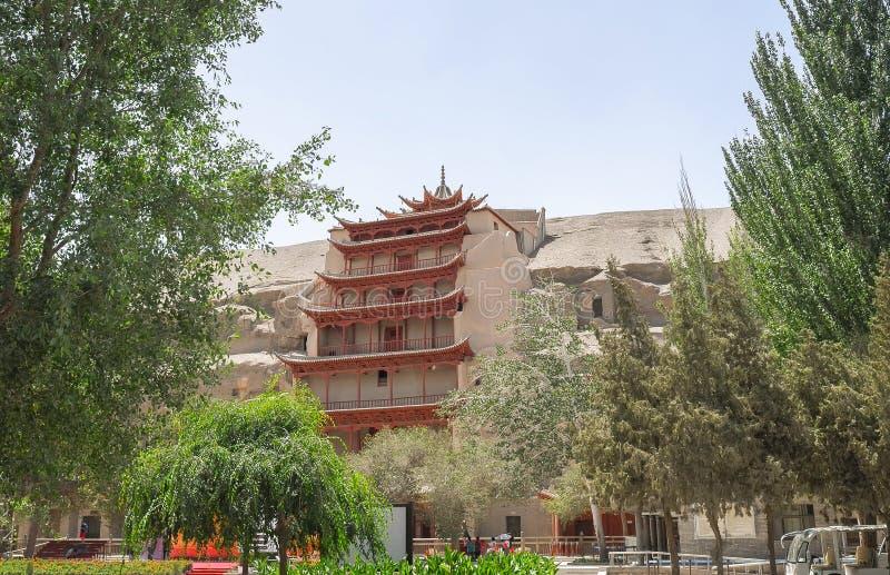 Mogaoholen in Dunhuang, China stock foto