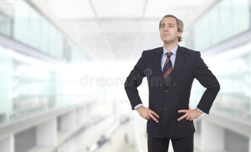 mogen affärsman arkivfoto