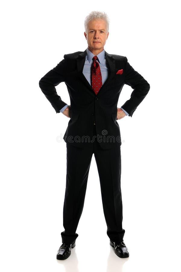 mogen affärsman royaltyfri bild