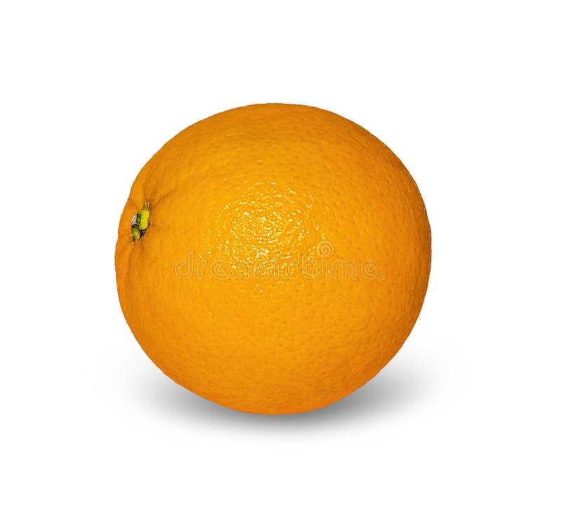 Mogen apelsin som isoleras på vit bakgrund royaltyfri bild