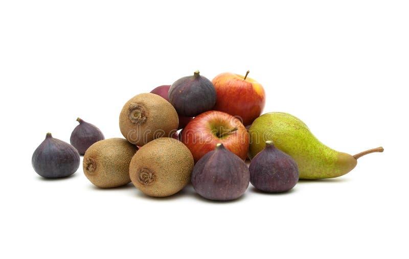 mogen frukt som isoleras på vit bakgrund arkivbilder