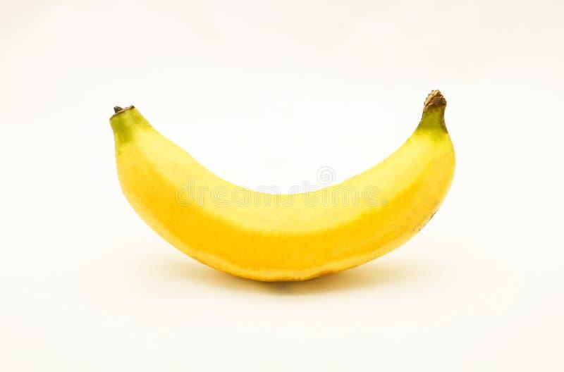 Mogen gul banan arkivbild