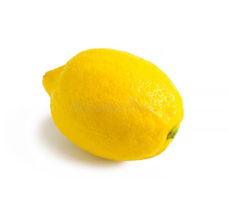 Mogen gul citron som isoleras p? vit bakgrund royaltyfri bild