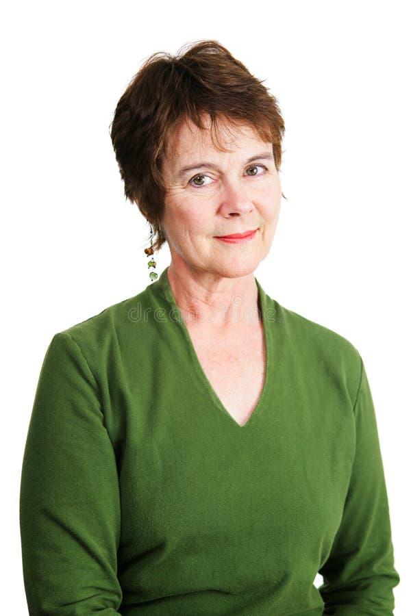 Mogen irländsk kvinna arkivfoto
