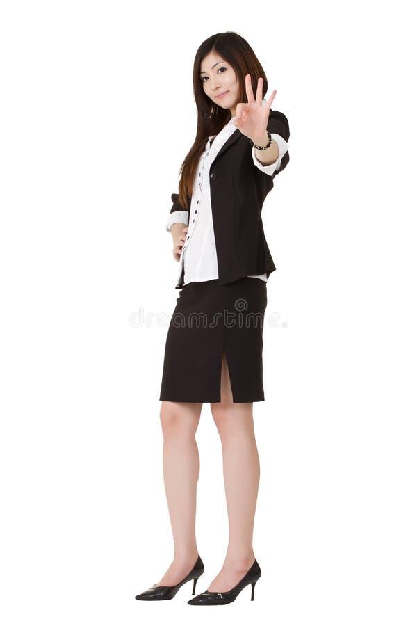 mogen kvinna för affär arkivfoto
