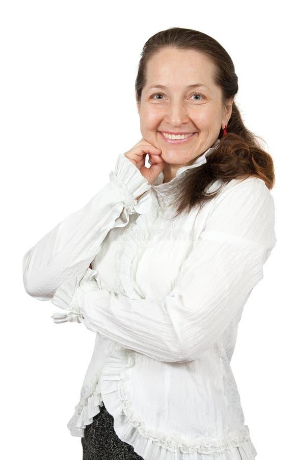 mogen kvinna för affär arkivbild