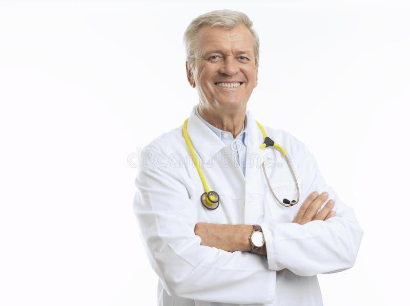 Mogen manlig doktor arkivfoton