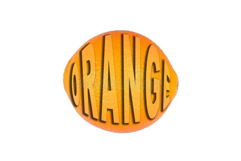 Mogen saftig apelsin p? vit bakgrund Sunt ?ta och banta begrepp arkivfoto