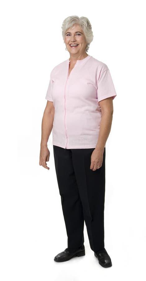 mogen vit kvinna för bakgrund royaltyfria bilder