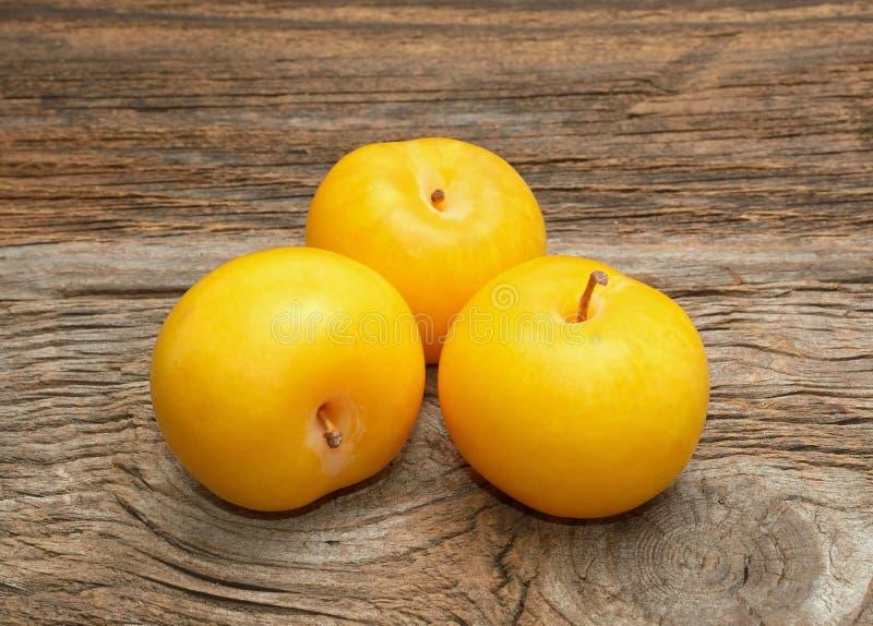 mogen yellow för plommoner royaltyfri foto
