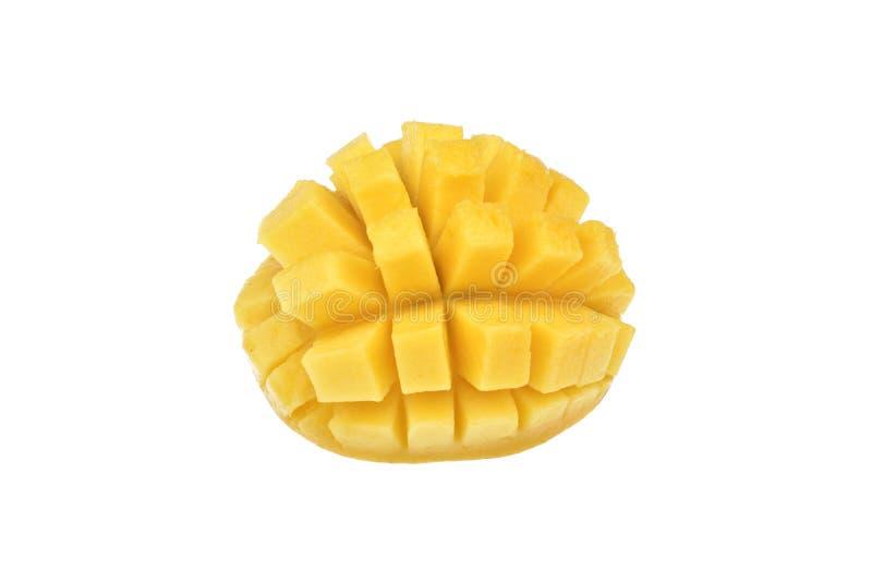 Moget för mangofrukt som isoleras på vit bakgrund royaltyfria bilder
