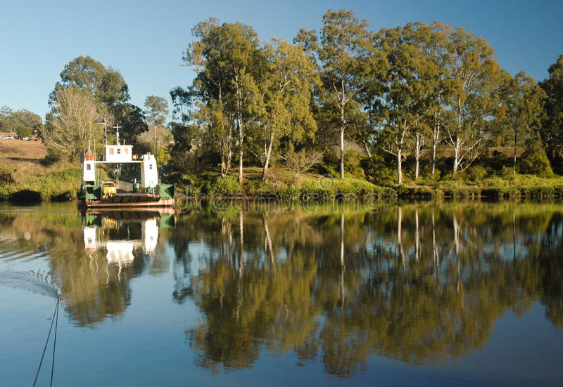 Download The Moggill Ferry stock photo. Image of river, trees, public - 9935056