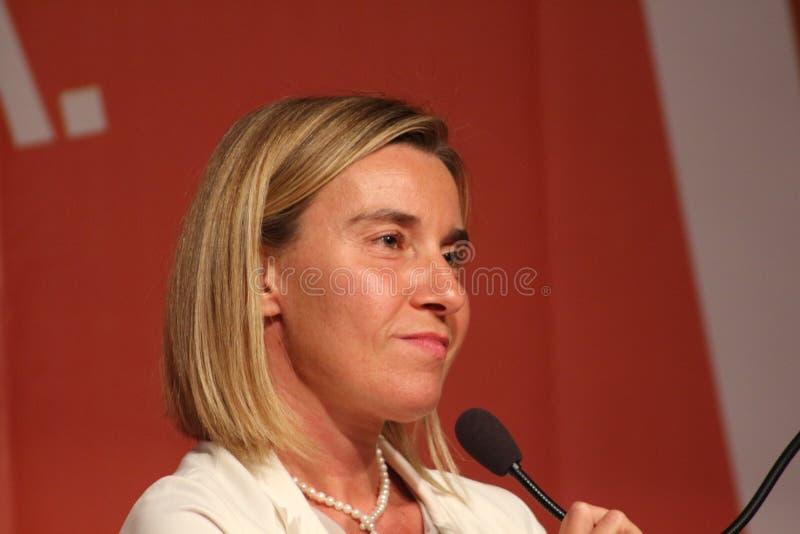 Mogherini de Federica, vicepresidente europeo imagen de archivo libre de regalías