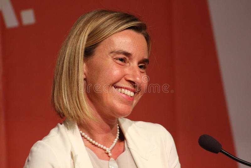 Mogherini de Federica, vicepresidente europeo fotografía de archivo