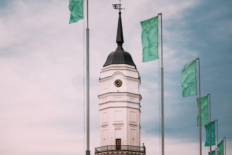 Mogilev Vitryssland århundradestad Hall Is Famous Architectural för th 17 arkivbilder