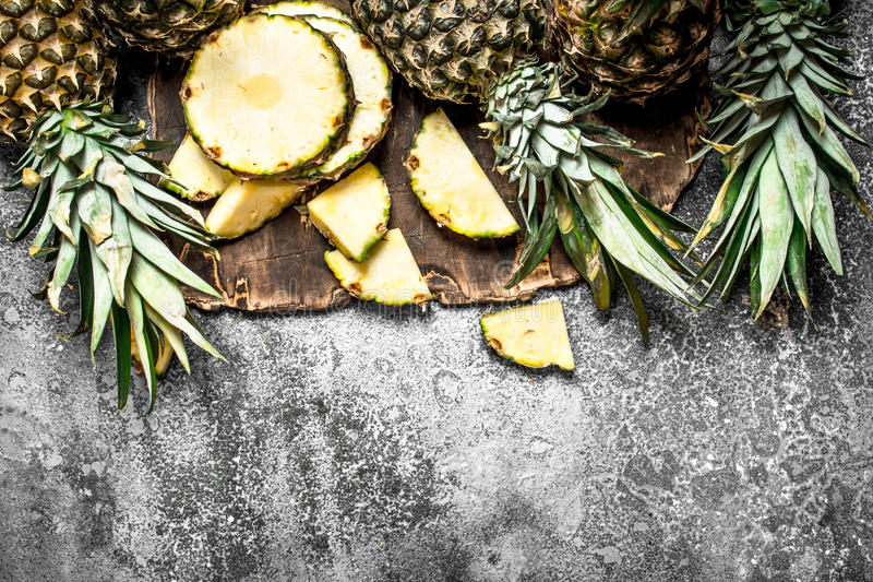 mogna ananas royaltyfria foton