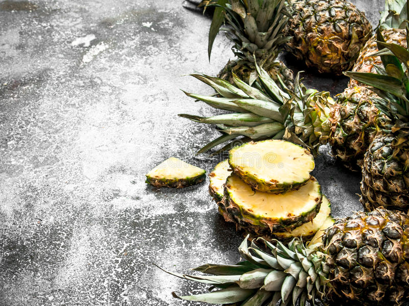 mogna ananas royaltyfri foto