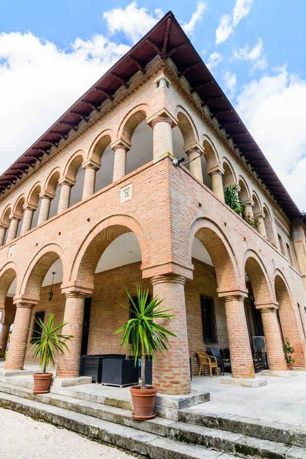 MOGOSOAIA, RUMÄNIEN - 29. September: Mogosoaia-Palast im September lizenzfreie stockfotos