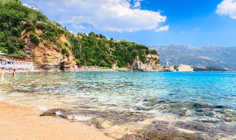 Mogren beach,Budva royalty free stock image