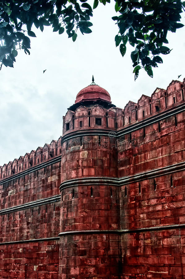 Mogul Architecture detail of RED FORT , New Delhi , India stock images