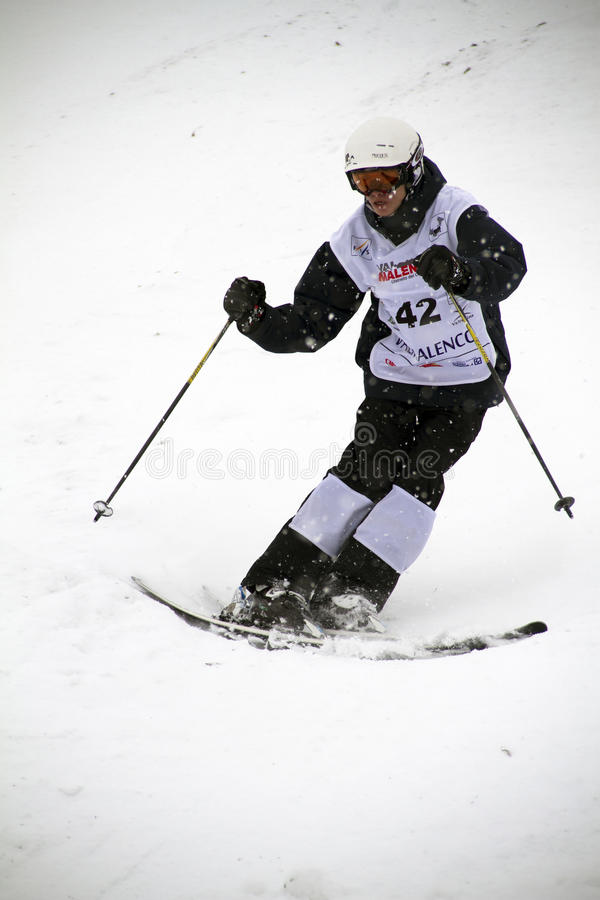 Mogul skier royalty free stock photos