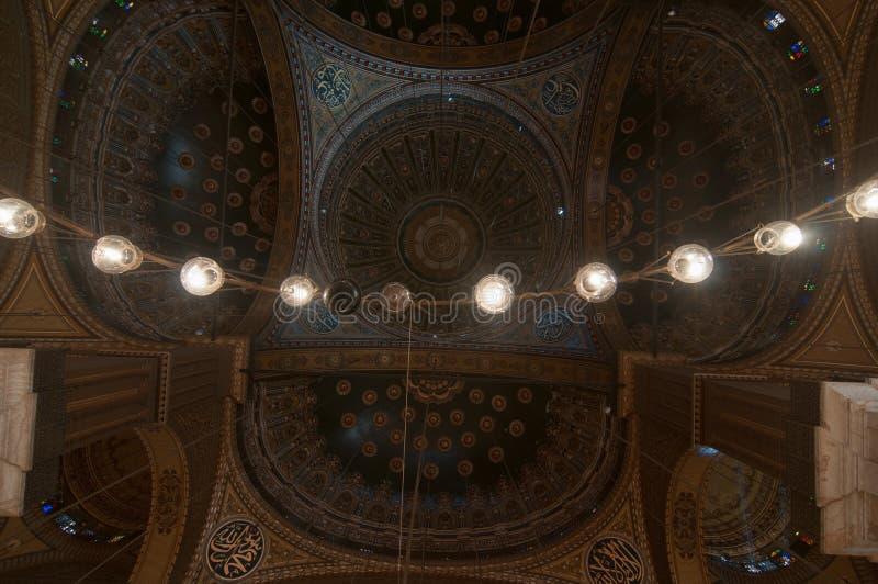 Mohamed Ali Mosque Dome, Saladin Citadel - Kairo, Ägypten lizenzfreie stockfotografie