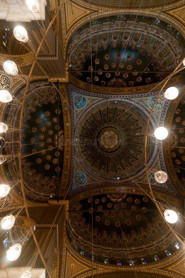 Mohamed Ali Mosque Dome, Saladin Citadel - Kairo, Ägypten stockfoto