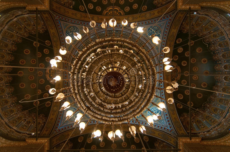 Mohamed Ali Mosque Dome, Saladin Citadel - le Caire, Egypte images stock