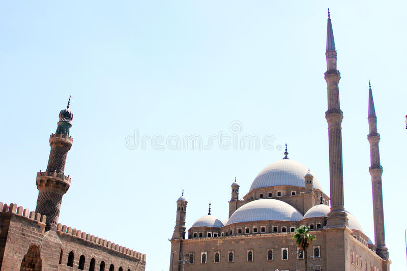 Egypt cairo citadel. Mohamed ali mosque and citadel in old cairo in egypt royalty free stock image