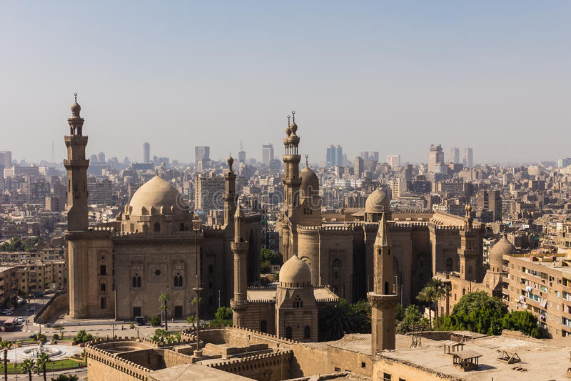 Mohamed Ali Mosque, Saladin Citadel do Cairo, Egito imagem de stock royalty free