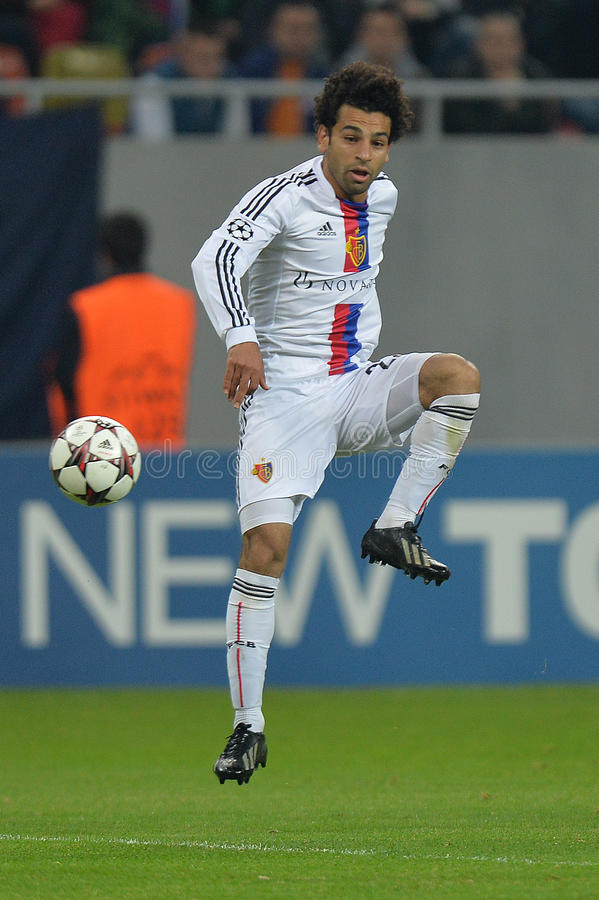 Mohamed Salah royalty-vrije stock foto's