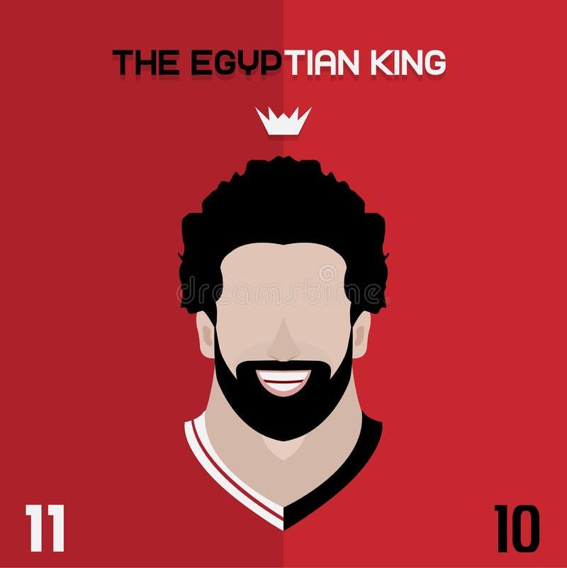 Mohamed Salah płaski Ilustracyjny projekt
