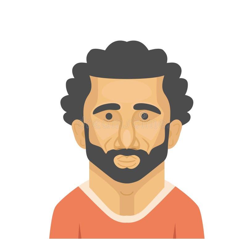 Mohamed Salah-vector portarait stock foto's