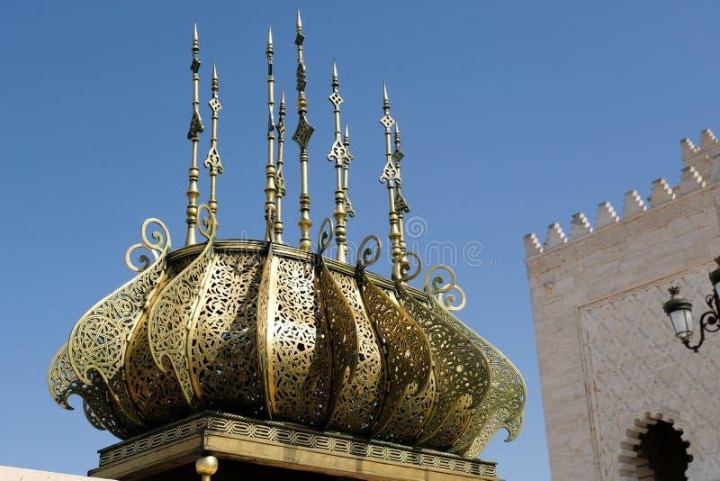 Mohamed V Mausoleum in Rabat, Marokko stock foto
