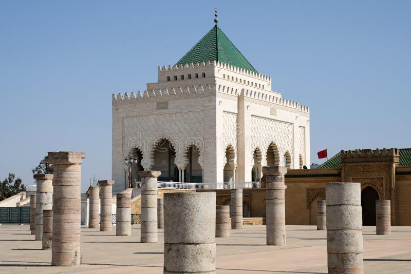 Mohamed V Mausoleum in Rabat, Marokko royalty-vrije stock fotografie