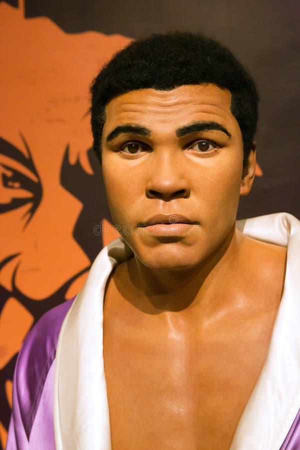 Mohammed Ali, Cassius Clay né, à Madame Tussaud photos libres de droits