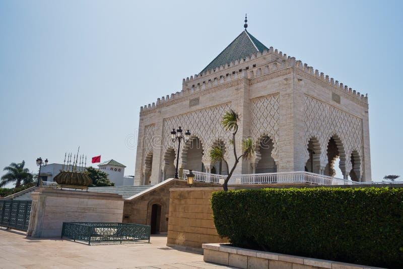 Mohammed V kungafamiljenmausoleum och moské i Rabat, Marocko, Afrika arkivbild
