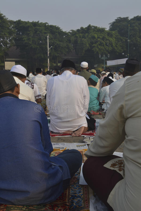 Mohammedaans gebed stock afbeeldingen