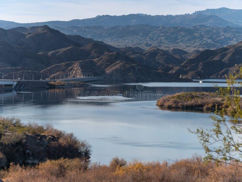 Mohave de Davis Dam et de lac photo libre de droits