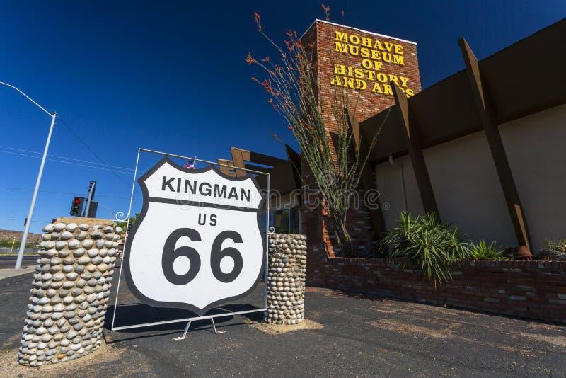 Mohavemuseum der Geschichte und der Künste auf Route 66, Kingman, Arizona, die Vereinigten Staaten von Amerika, Nordamerika stockfotos
