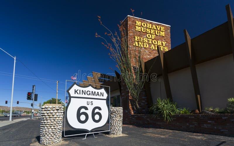 Mohavemuseum van geschiedenis en kunsten op Route 66, Kingman, Arizona, de Verenigde Staten van Amerika, Noord-Amerika stock foto's