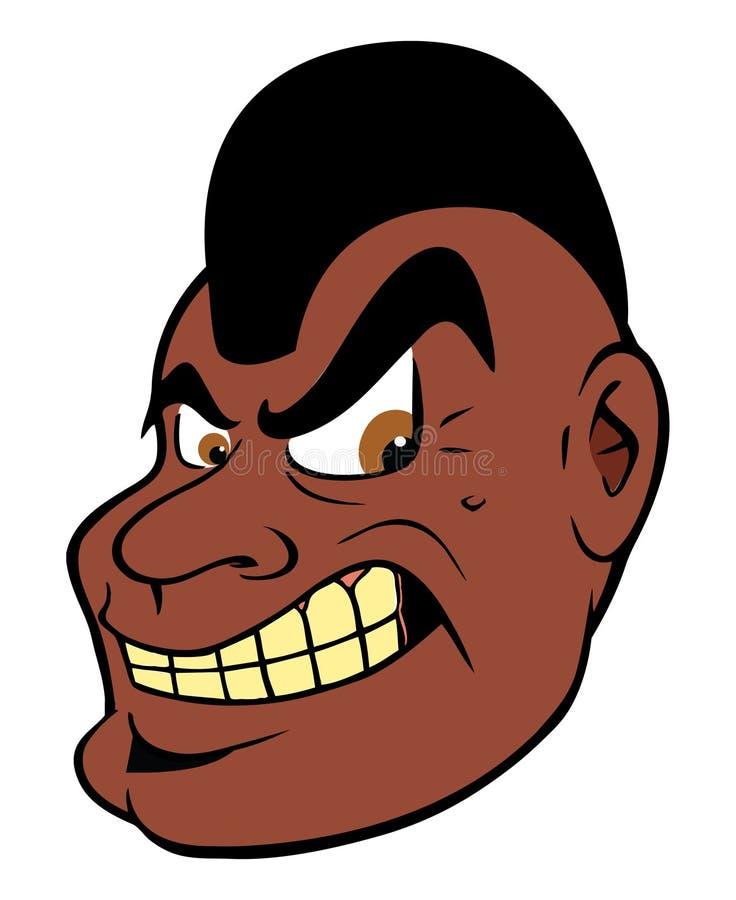 Mohawk mesquin de type noir illustration de vecteur