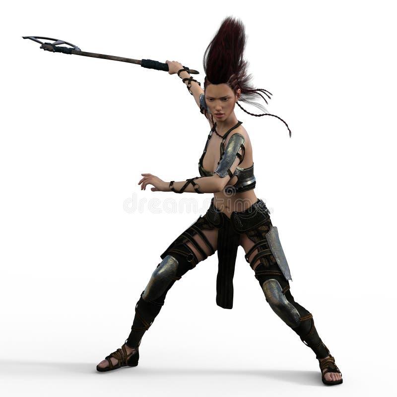 Mohawk wojownik ilustracja wektor