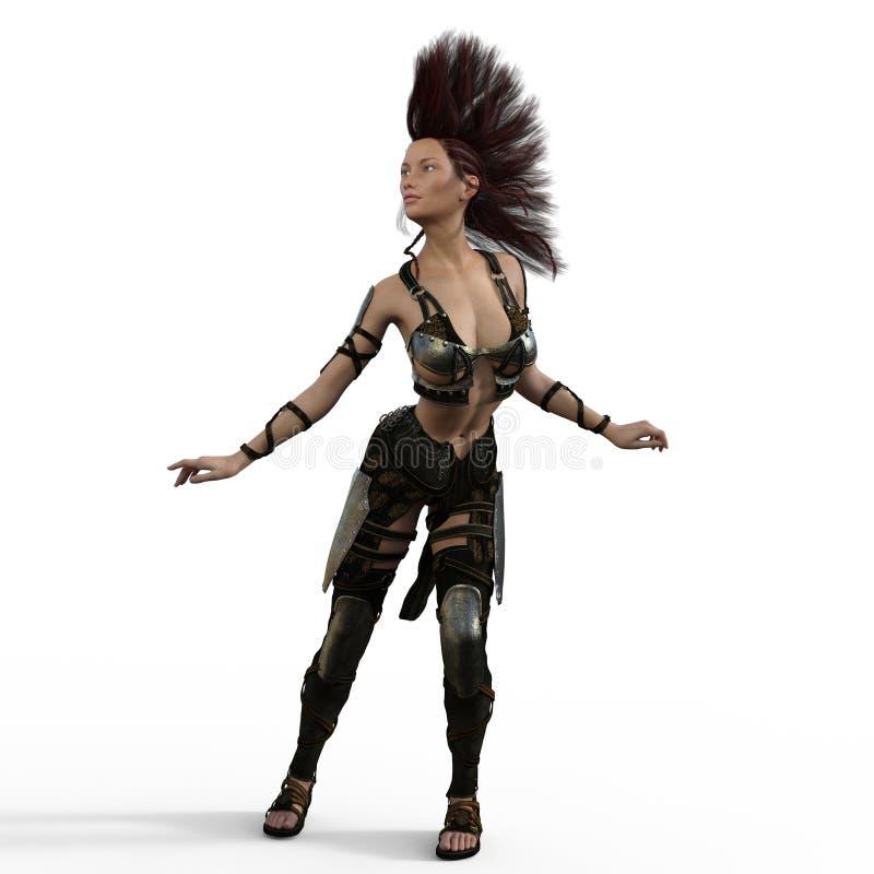 Mohawk wojownik ilustracji