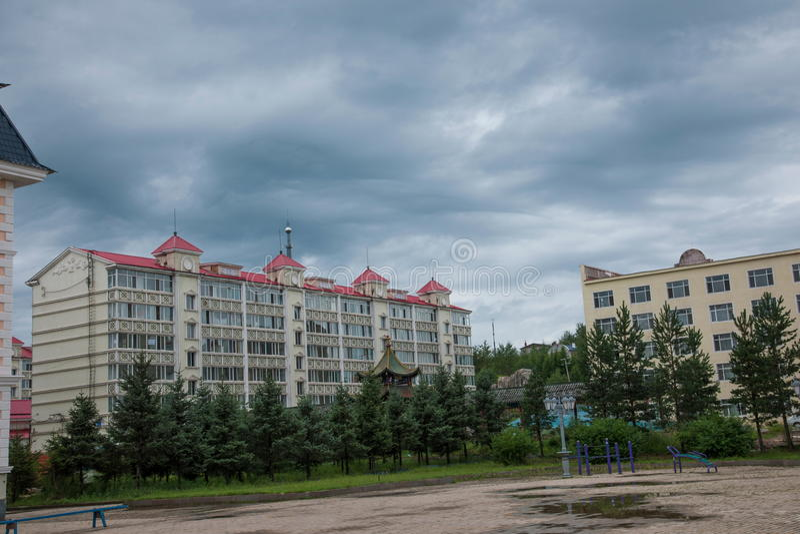 Mohe County. Daxinganling Mohe County, Heilongjiang Province stock image