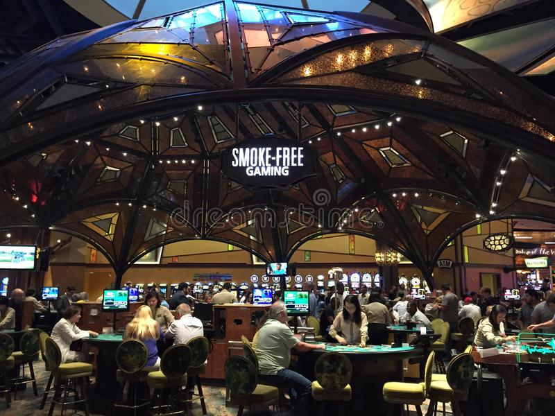 Mohegan Sun Casino & Hotel in Connecticut. USA. It is one of the largest casinos in the United States with 364,000 square feet of gaming space royalty free stock photography