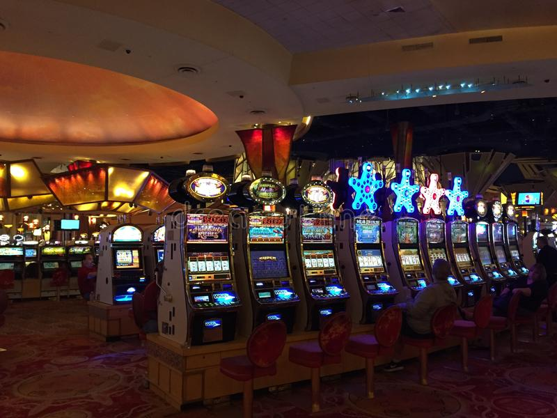 Mohegan Sun Casino & Hotel in Connecticut. USA. It is one of the largest casinos in the United States with 364,000 square feet of gaming space stock photos