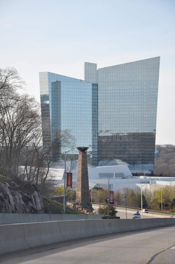 Mohegan Sun in Uncasville, Connecticut. UNCASVILLE, CONNECTICUT - APRIL 28: Mohegan Sun in Uncasville, Connecticut, as seen on April 28, 2013. It is one of the royalty free stock photos