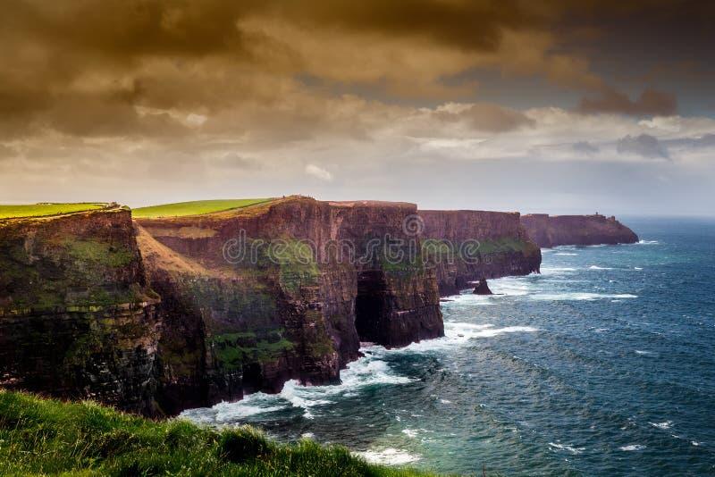 Moher峭壁在爱尔兰 免版税库存照片