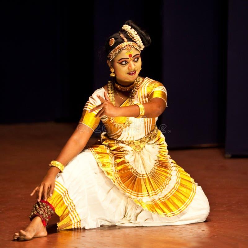 Mohiniattam舞蹈,印度 库存照片